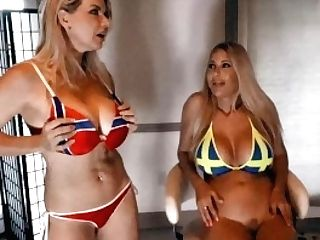 Behind The Scenes With Vicky Vette! Norway Vs Sweden Slit Challenge!